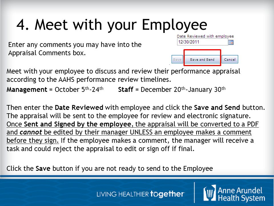 4. Meet with your Employee