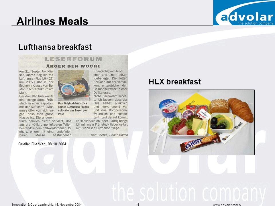Airlines Meals Lufthansa breakfast HLX breakfast