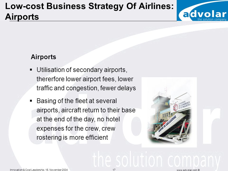Low-cost Business Strategy Of Airlines: Airports