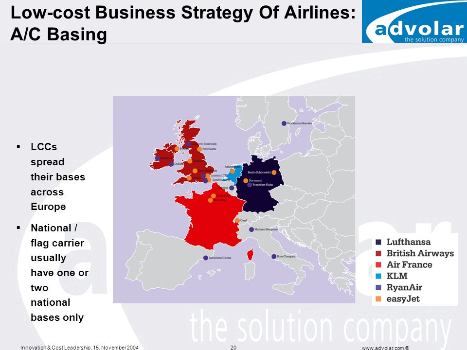 Low-cost Business Strategy Of Airlines: A/C Basing