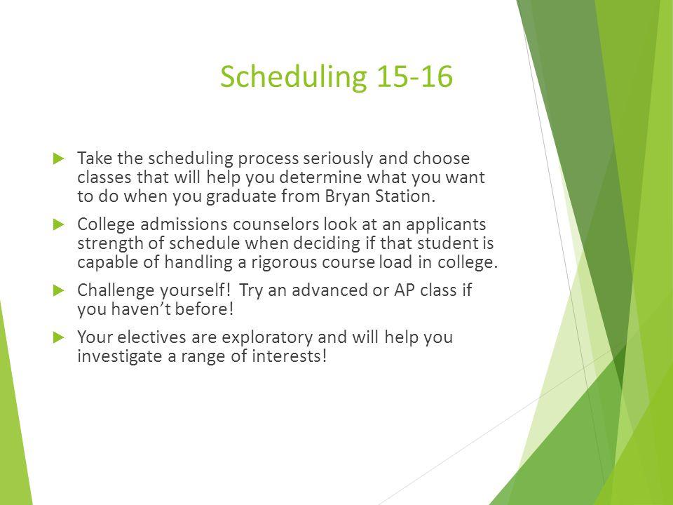 Scheduling 15-16