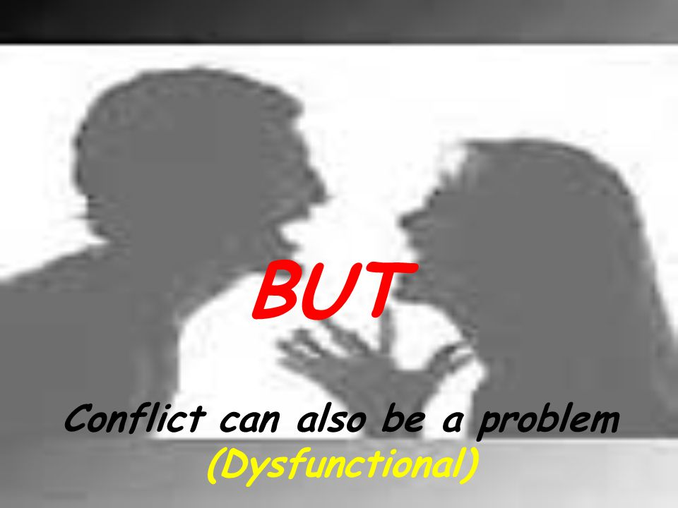 Conflict can also be a problem (Dysfunctional)