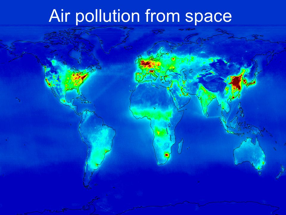 Air pollution from space