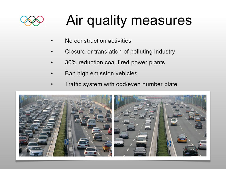 Air quality measures No construction activities
