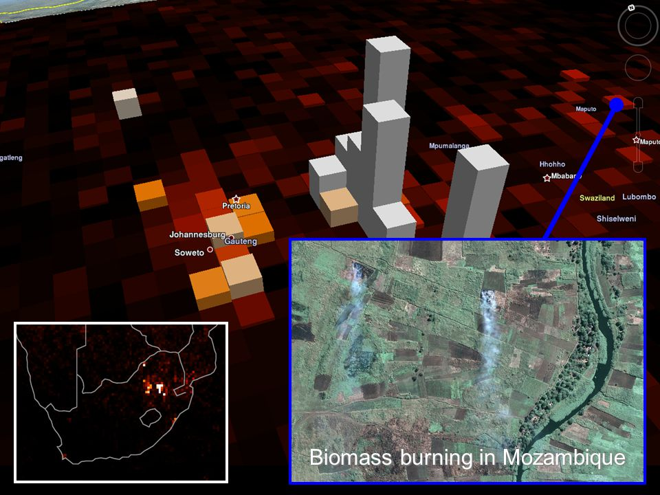 Biomass burning in Mozambique