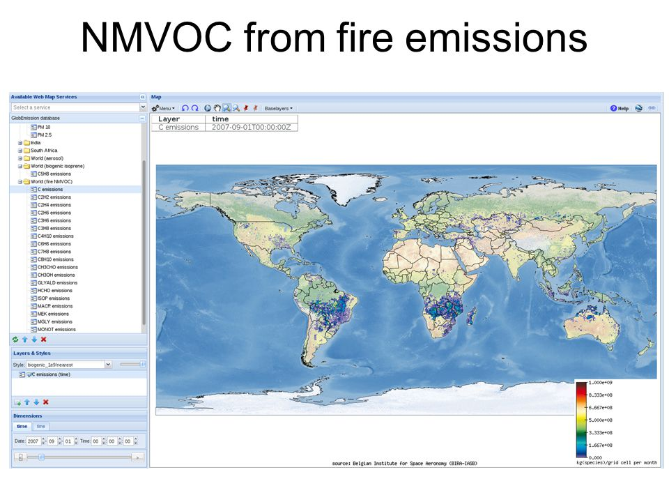 NMVOC from fire emissions