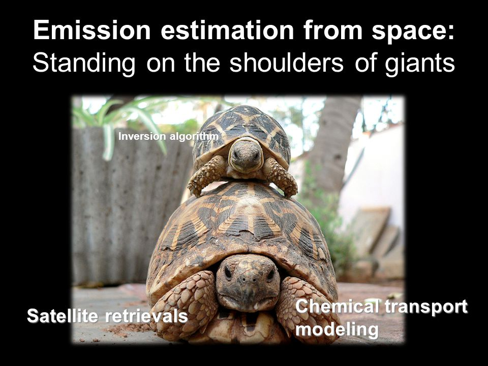 Emission estimation from space: Standing on the shoulders of giants