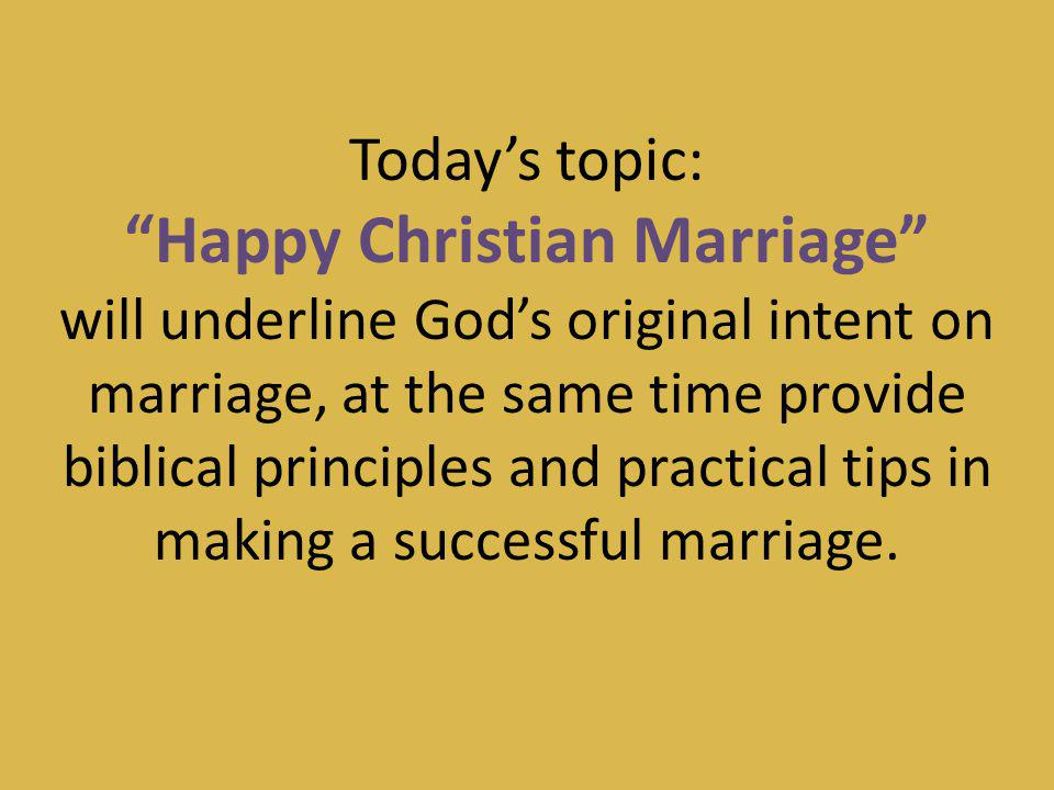 Happy Christian Marriage