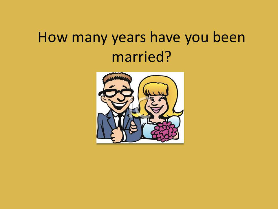 How many years have you been married