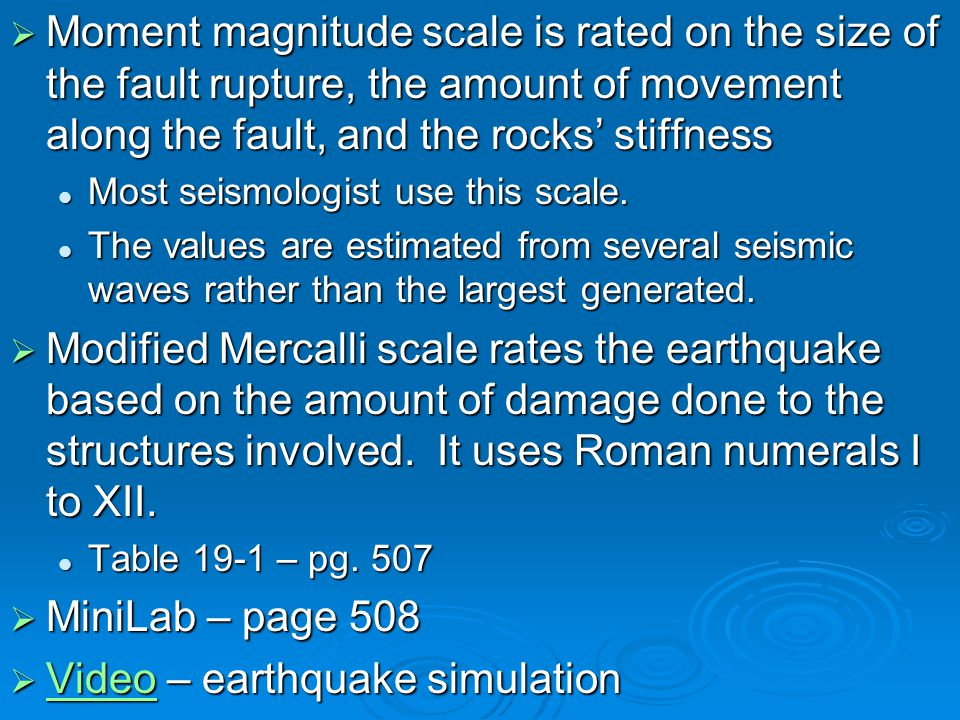 Video – earthquake simulation