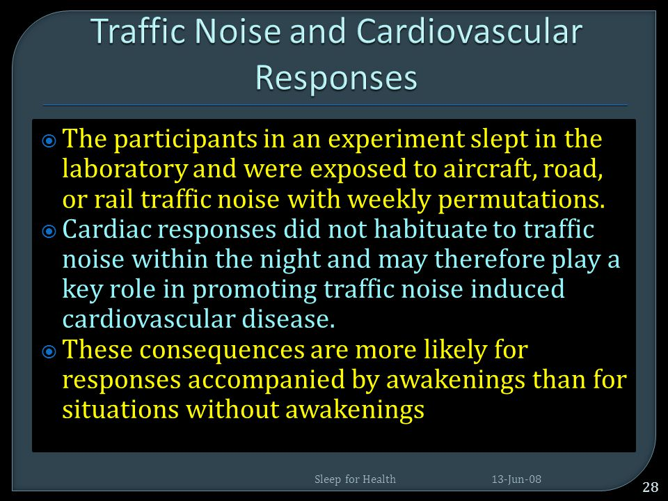 Traffic Noise and Cardiovascular Responses