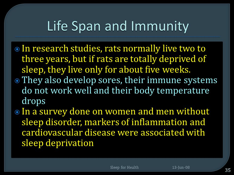 Life Span and Immunity