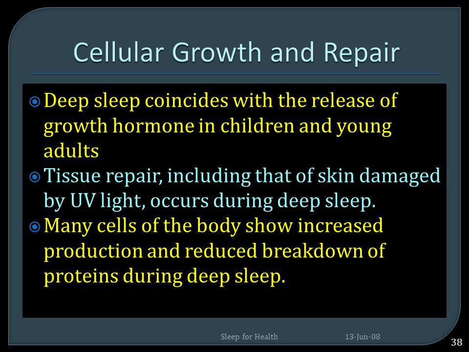Cellular Growth and Repair