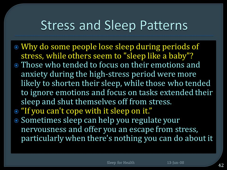 Stress and Sleep Patterns