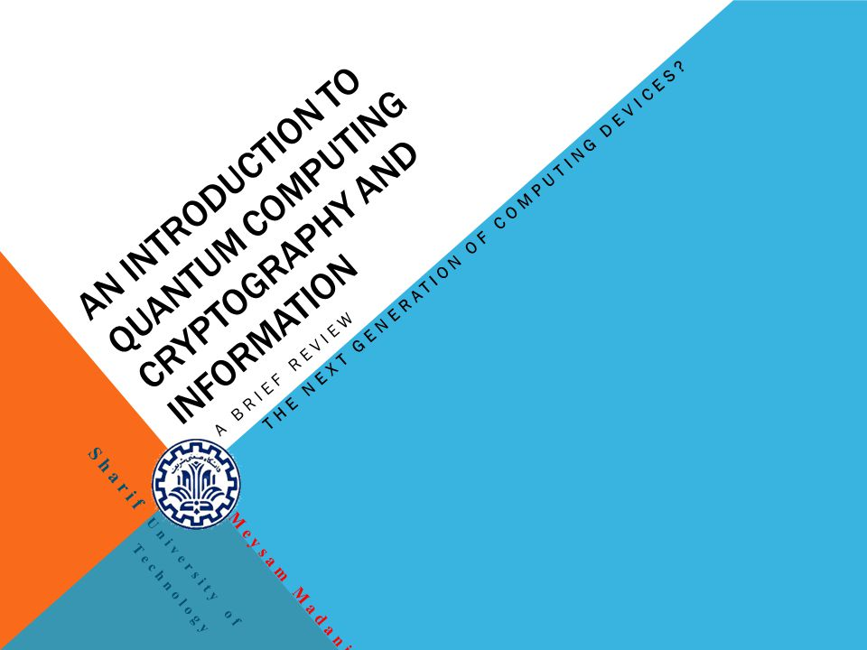 An Introduction to Quantum Computing Cryptography and Information