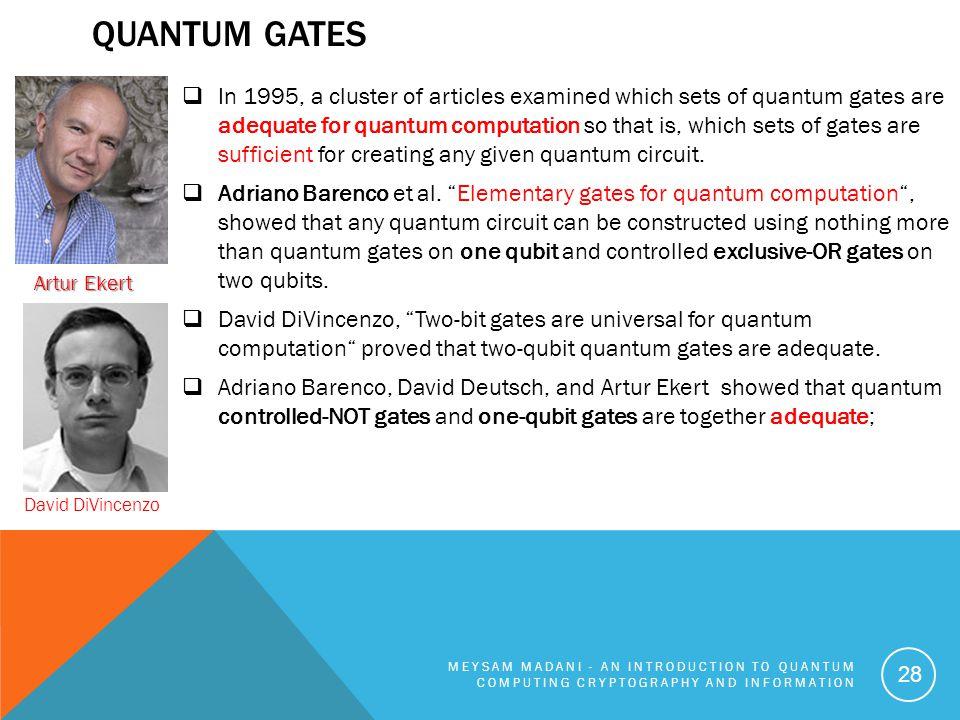 Quantum Gates