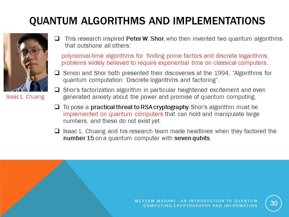 Quantum Algorithms and Implementations