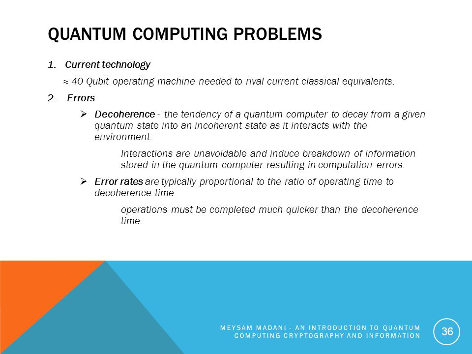 Quantum Computing Problems