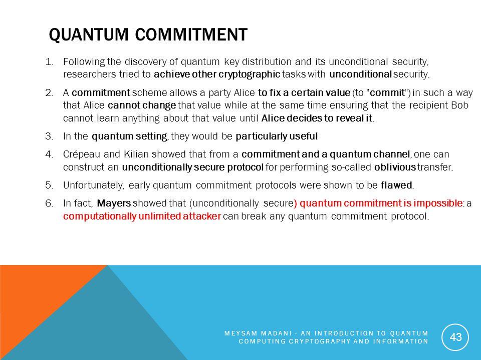 Quantum commitment