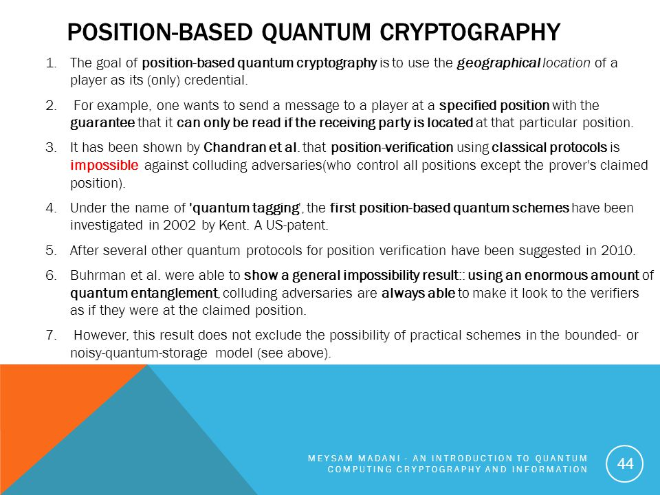 Position-based quantum cryptography