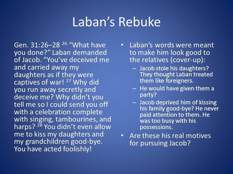 Laban's Rebuke