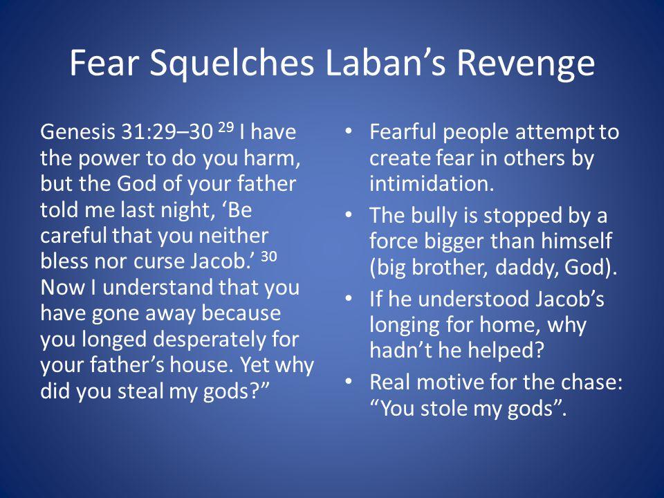 Fear Squelches Laban's Revenge
