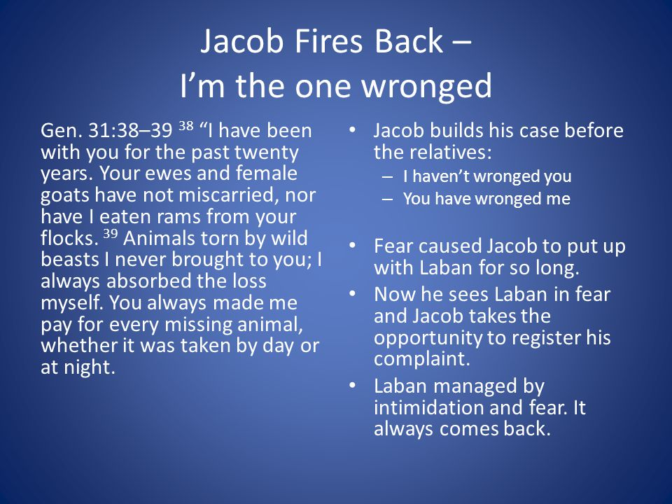 Jacob Fires Back – I'm the one wronged