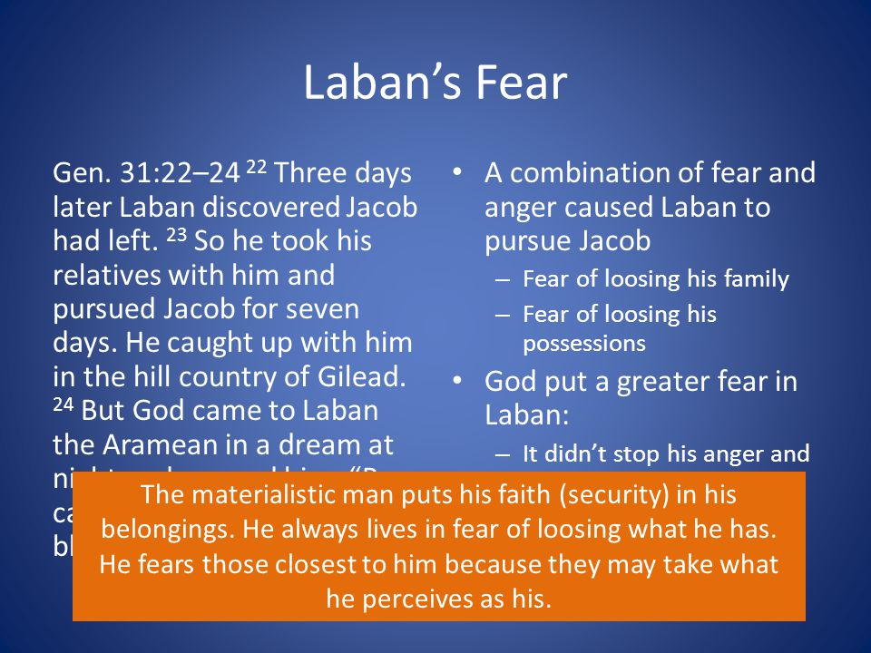 Laban's Fear