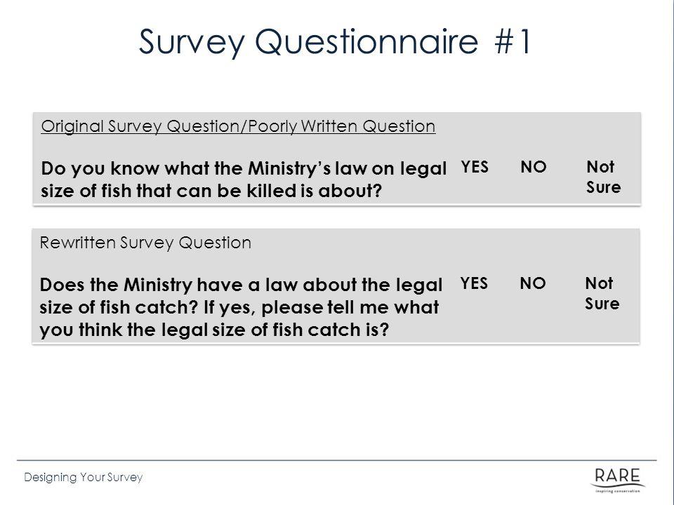 Survey Questionnaire #1