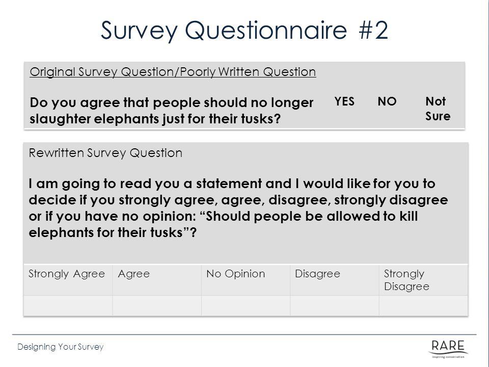 Survey Questionnaire #2
