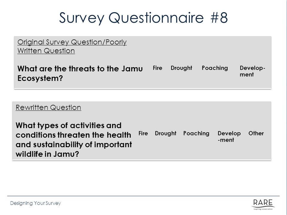 Survey Questionnaire #8