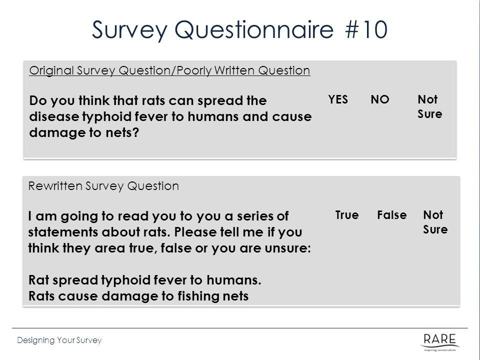 Survey Questionnaire #10