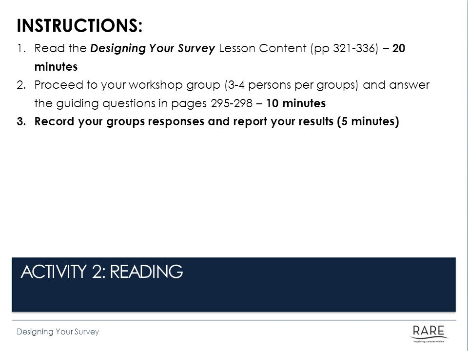 INSTRUCTIONS: ACTIVITY 2: READING