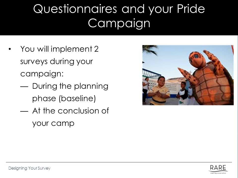 Questionnaires and your Pride Campaign