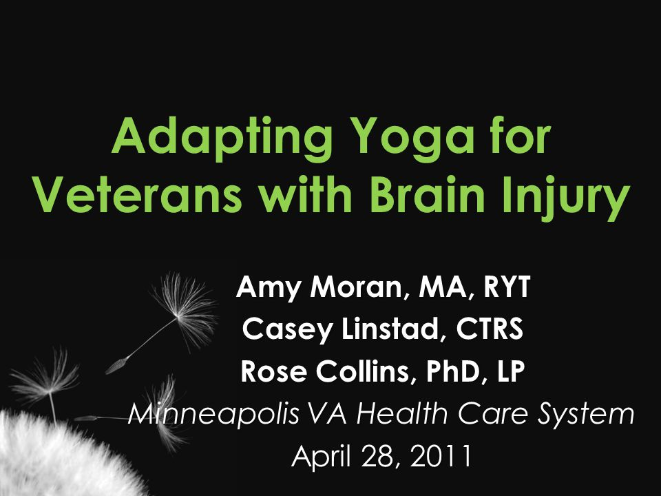 Adapting Yoga for Veterans with Brain Injury