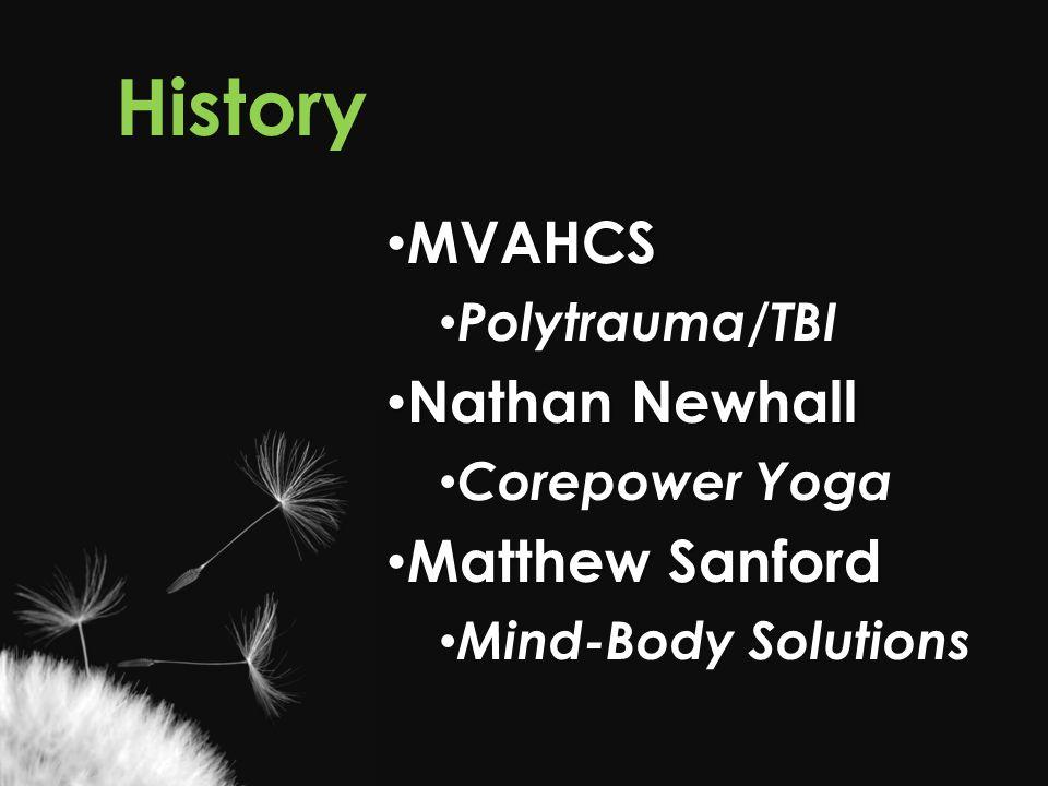 History MVAHCS Nathan Newhall Matthew Sanford Polytrauma/TBI