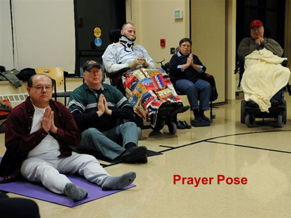 Adaptive Yoga Casey Prayer Pose