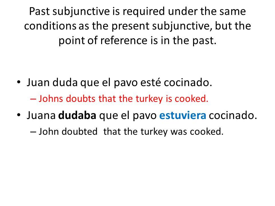 Juan duda que el pavo esté cocinado.