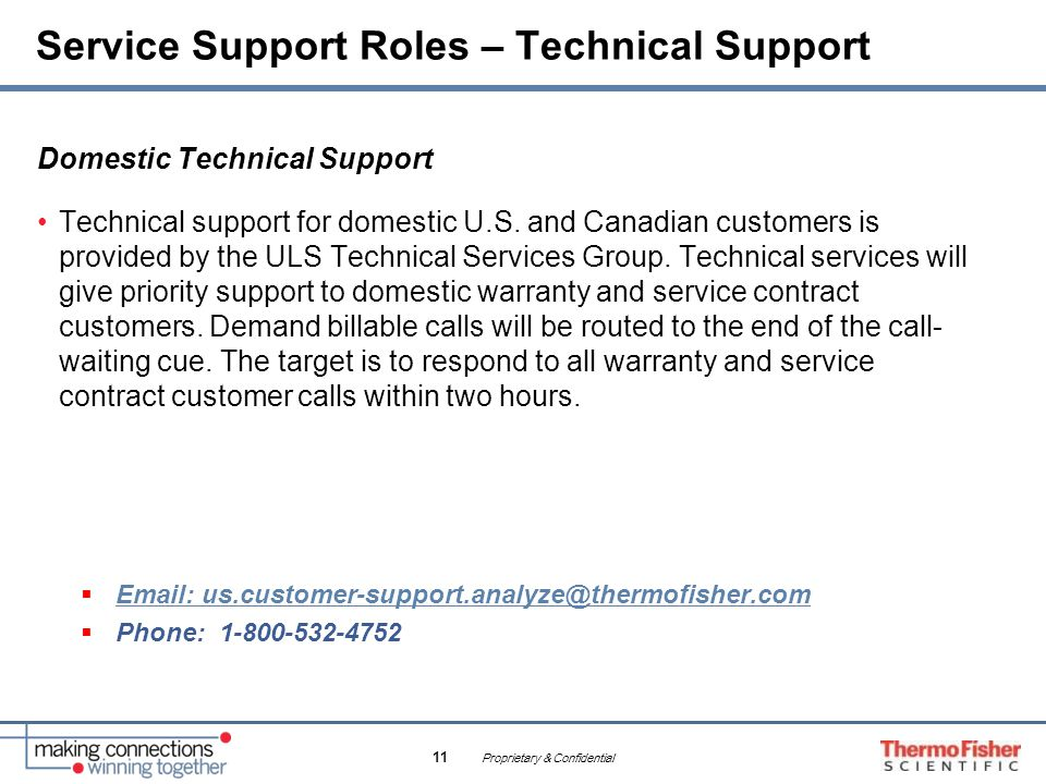 Service Support Roles – Technical Support