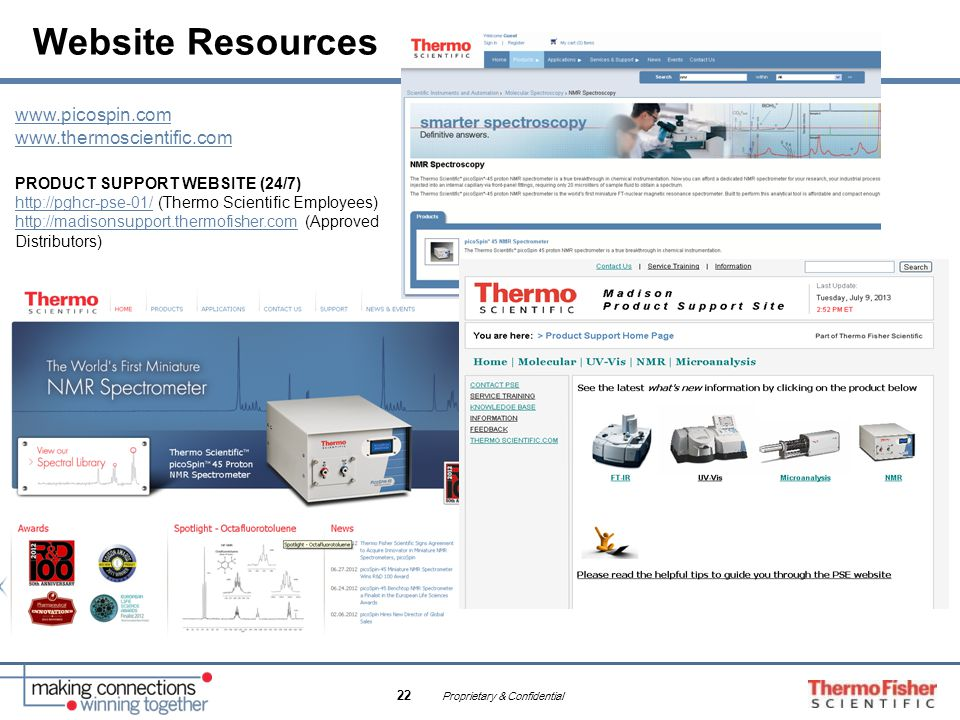 Website Resources www.picospin.com www.thermoscientific.com