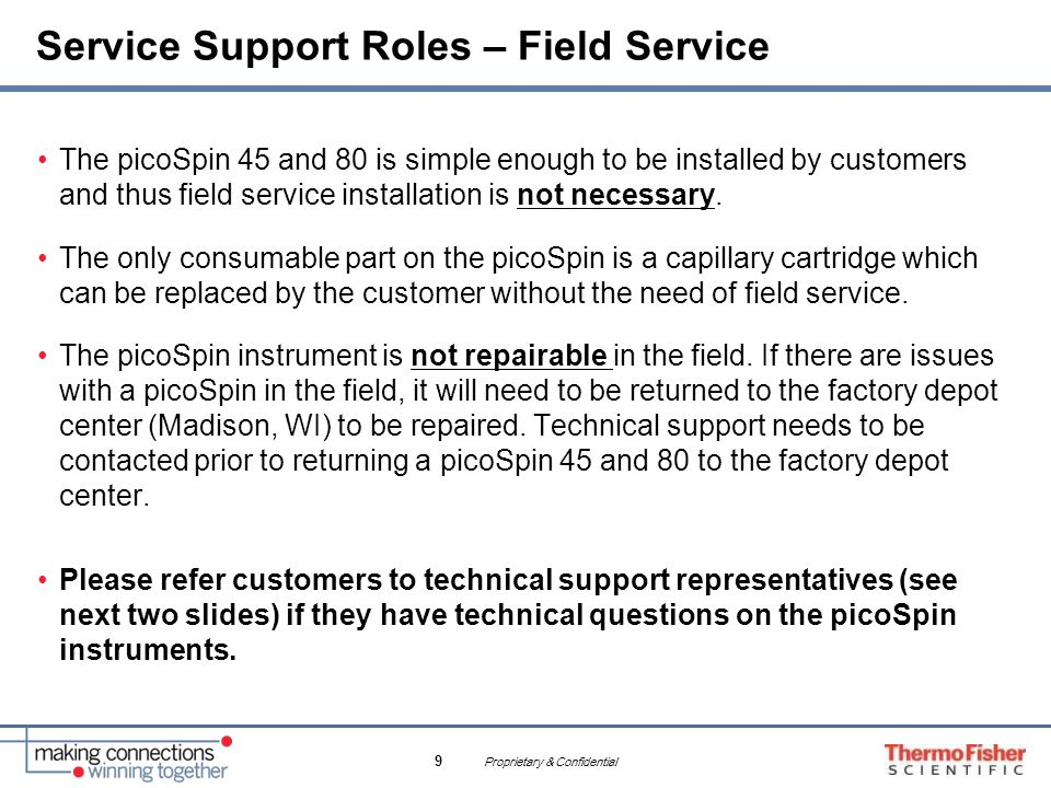 Service Support Roles – Field Service