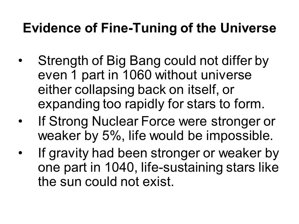 Evidence of Fine-Tuning of the Universe
