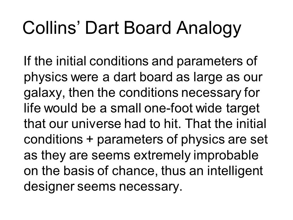 Collins' Dart Board Analogy