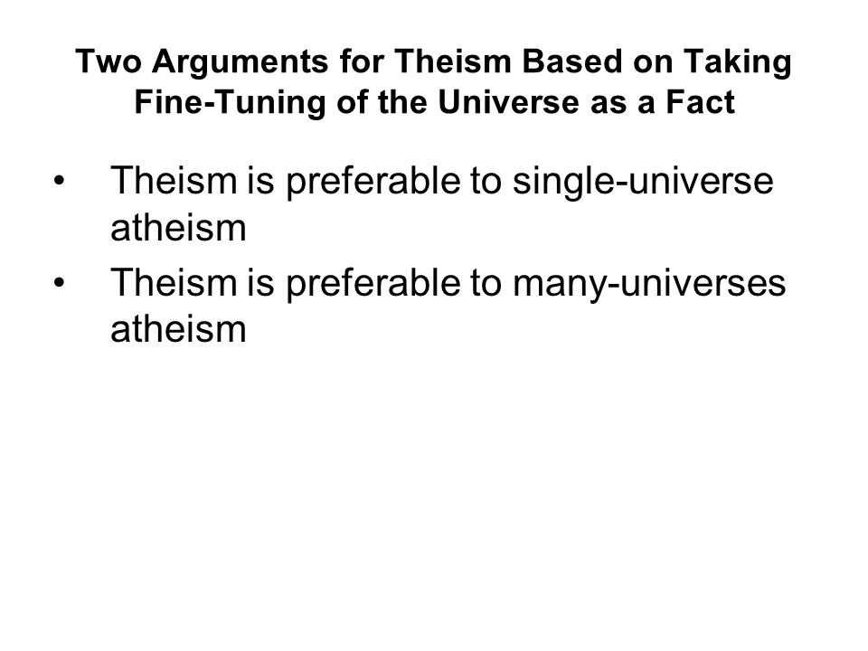 Theism is preferable to single-universe atheism