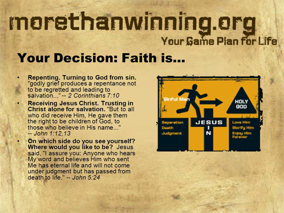 Your Decision: Faith is…
