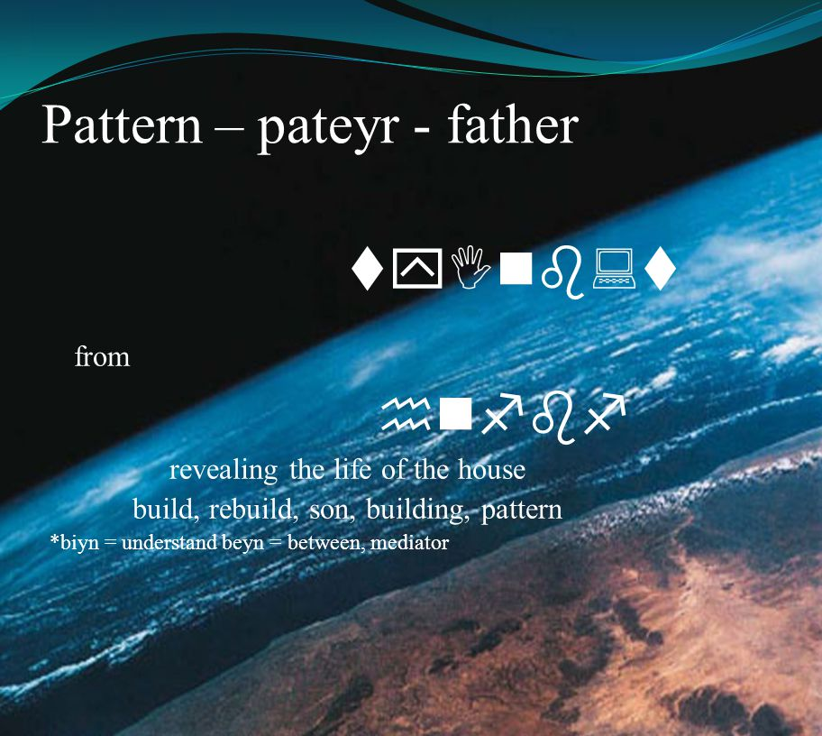 Pattern – pateyr - father