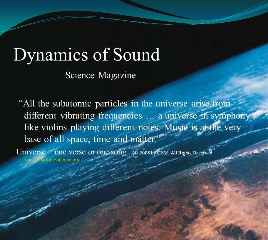 Dynamics of Sound Science Magazine