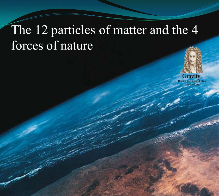 The 12 particles of matter and the 4 forces of nature