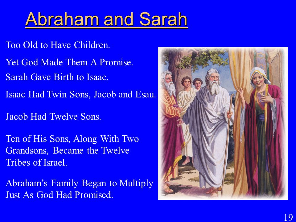 Abraham and Sarah Too Old to Have Children.
