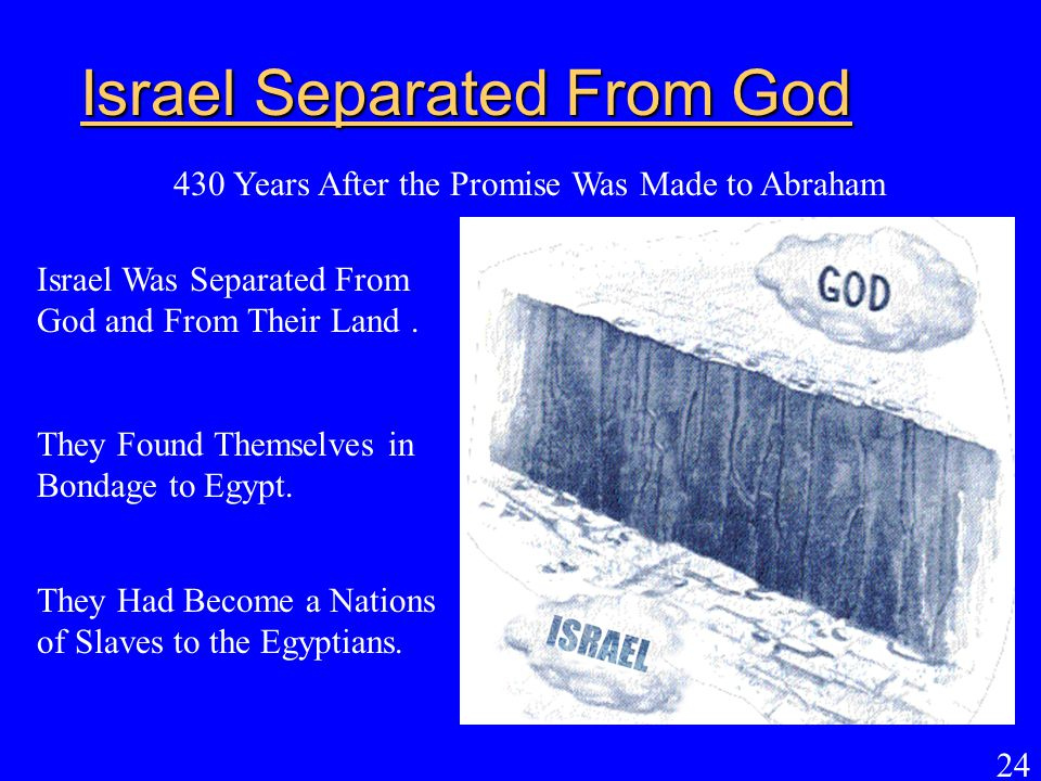 Israel Separated From God